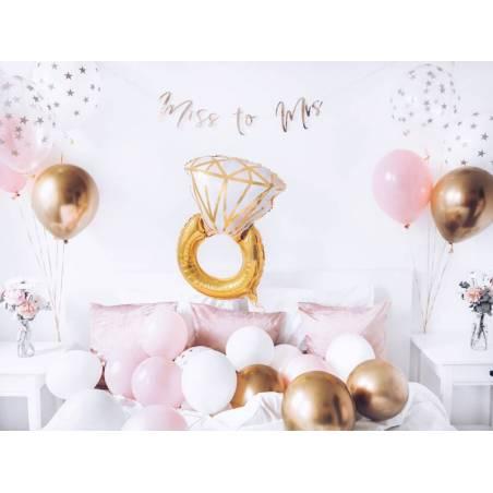 Anneau ballon en aluminium, 53x40cm, mix