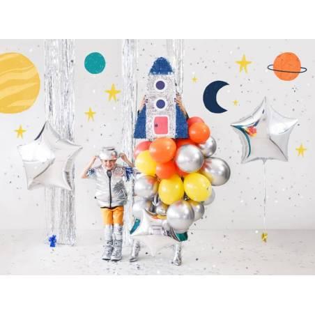 Ballon aluminium Star, 70cm, argent