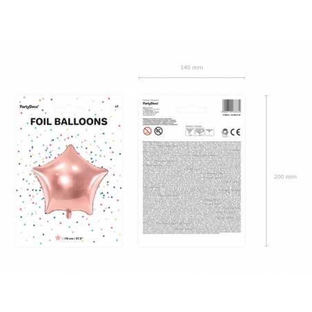 Ballon aluminium Star, 70cm, or rose