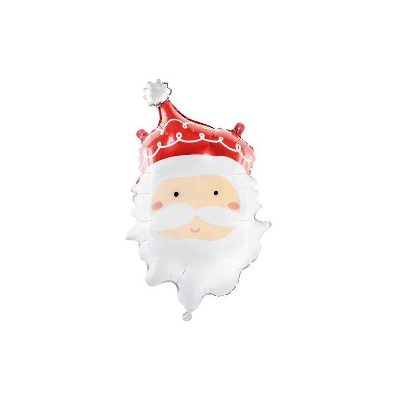 Ballon en aluminium Père Noël, 37x60cm, mélange