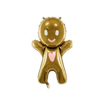 Foil Ballon Gingerbread Man, 58x86cm, mélange