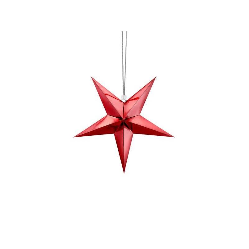 Étoile en papier, 30cm, rouge