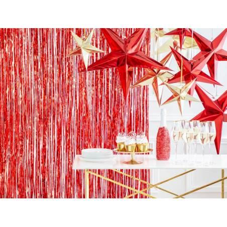 Étoile en papier, 45cm, rouge