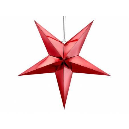 Étoile en papier, 70cm, rouge