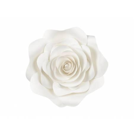Fond de fleurs en papier, crème légère, mélange
