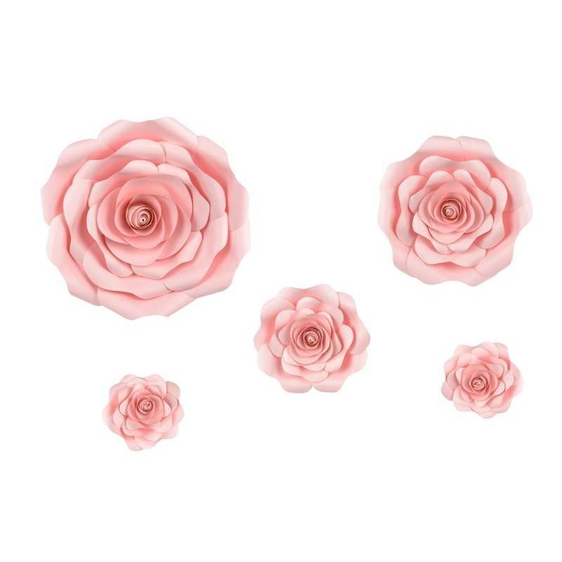 Fond de fleurs en papier, rose, mélange