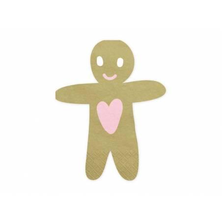 Serviettes Gingerbread Man 16x13cm