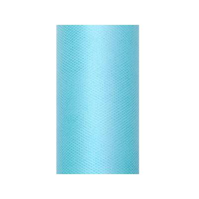 Tulle uni, turquoise, 0,3 x 9m