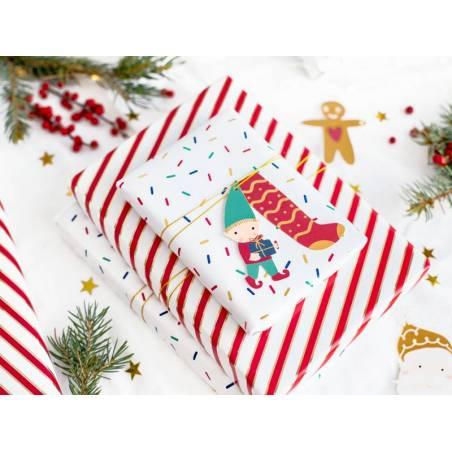 Étiquettes cadeaux Père Noël mélange