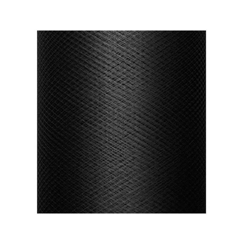 Tulle uni rigide noir 03 x 50m