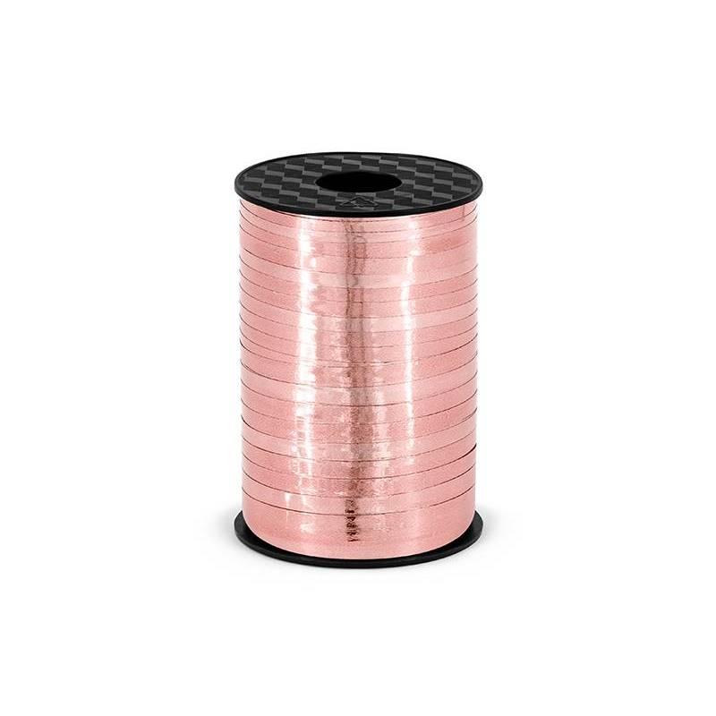 Ruban plastique, or rose, 5 mm / 225 m