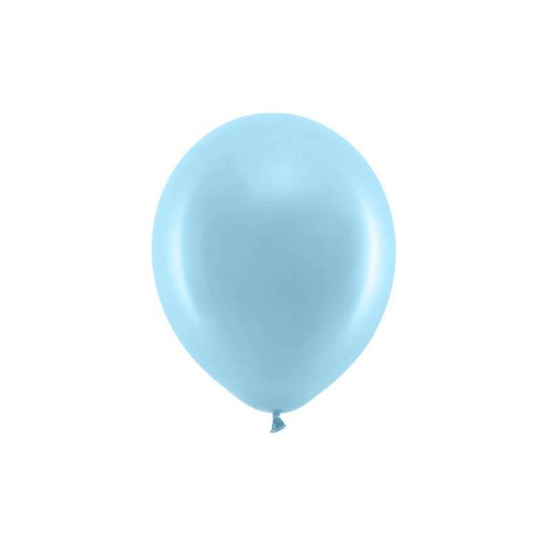 Ballons arc-en-ciel 23cm bleu clair pastel