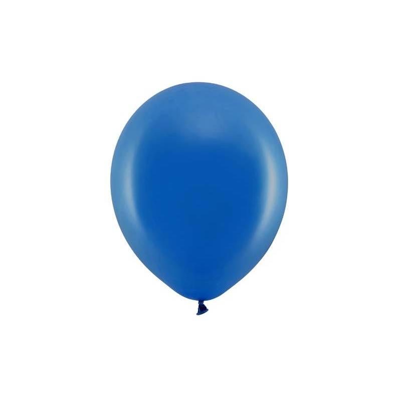 Ballons arc-en-ciel 23cm bleu marine pastel
