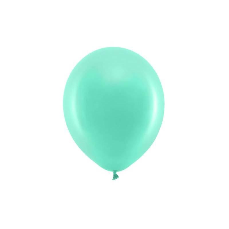 Ballons arc-en-ciel 23cm menthe pastel