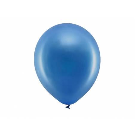 Ballons arc-en-ciel 30cm bleu marine métallique