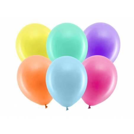 Ballons arc-en-ciel 30cm mélange pastel