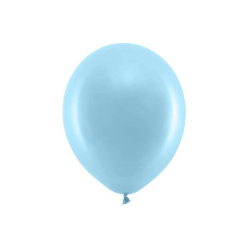 Ballons arc-en-ciel 30cm bleu léger pastel
