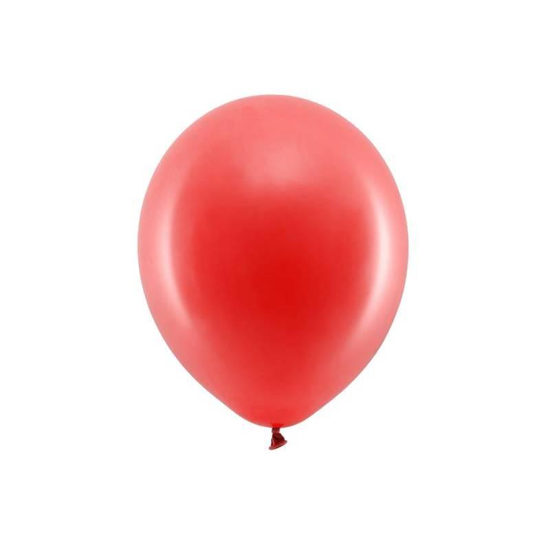 Ballons arc-en-ciel 30cm rouge pastel