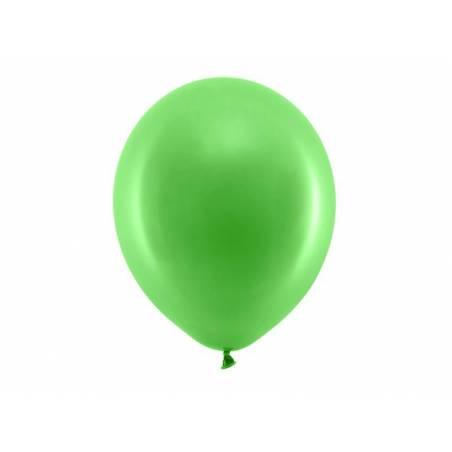 Ballons arc-en-ciel 30cm vert pastel