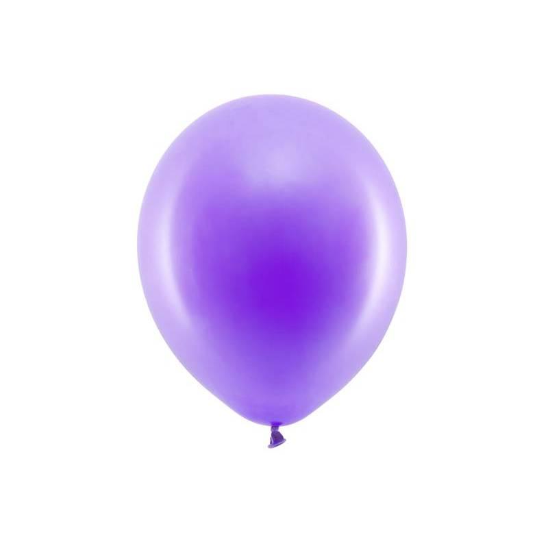 Ballons arc-en-ciel 30cm violet pastel