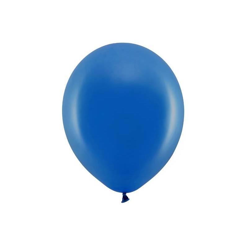 Ballons arc-en-ciel 30cm bleu marine pastel