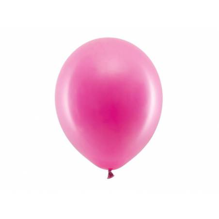 Ballons arc-en-ciel 30cm fuchsia pastel