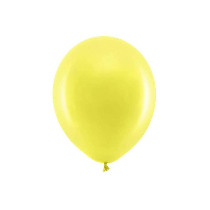 Ballons arc-en-ciel 30cm jaune pastel