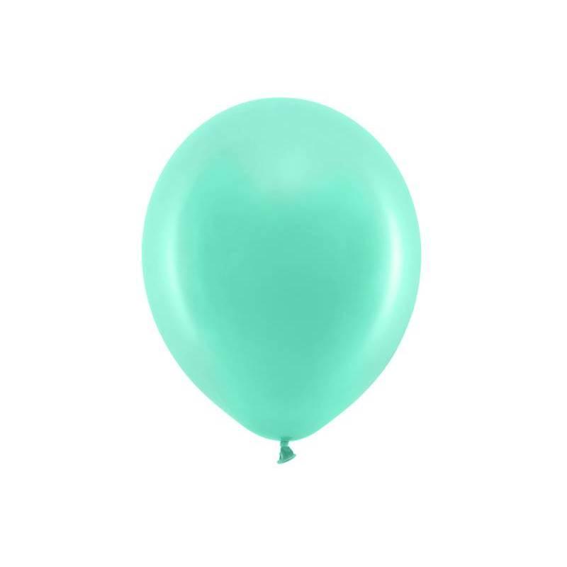 Ballons arc-en-ciel 30cm menthe pastel
