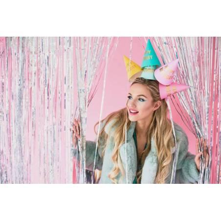 Chapeaux de fête Happy Birthday mix 16cm