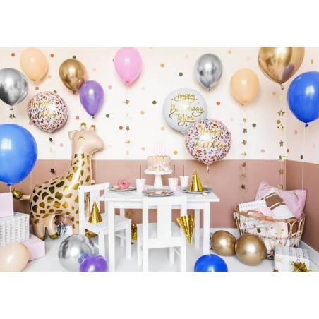 Ballon aluminium Happy Birthday To You, 35cm, blanc