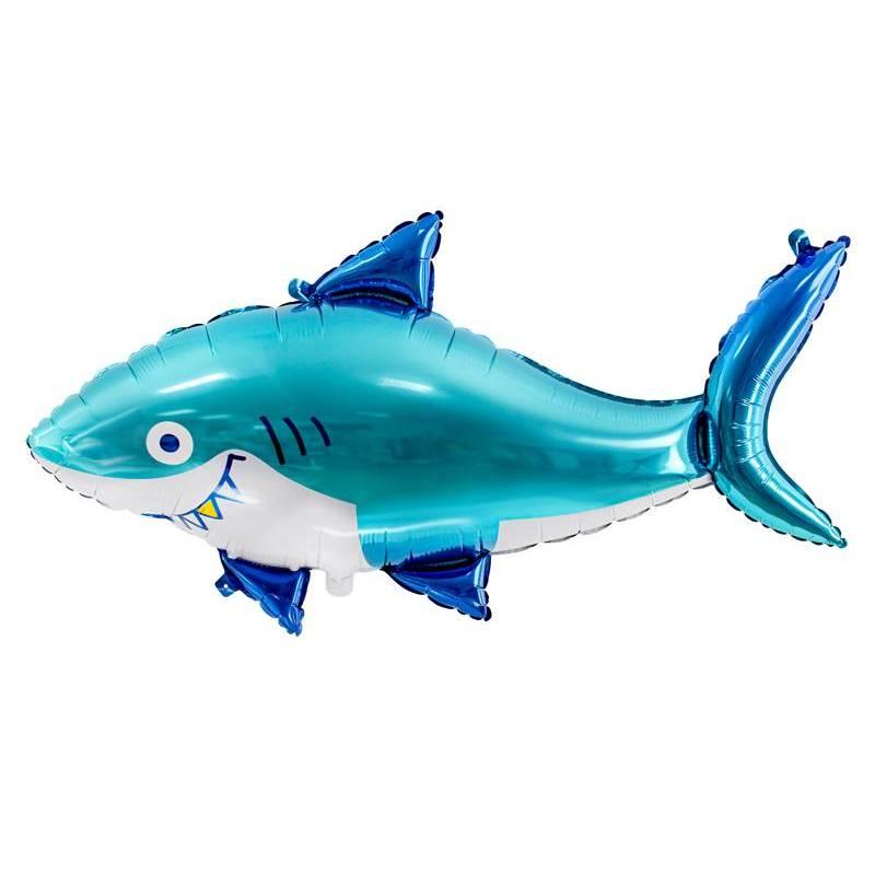 Ballon aluminium Shark, 92x48cm, mix