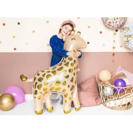 Ballon aluminium Girafe, 80x102cm, mix