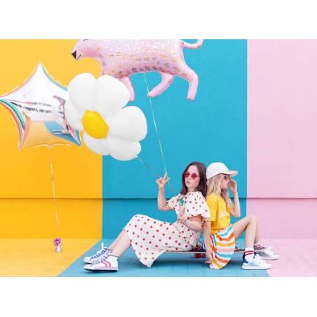 Ballon en aluminium léopard, 103x63cm, mélange