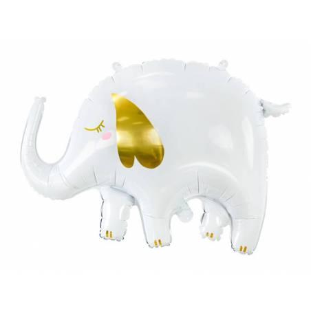 Éléphant ballon en aluminium, 61x46cm, mélange