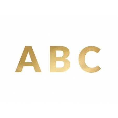 Bannière Alphabet or 14cm