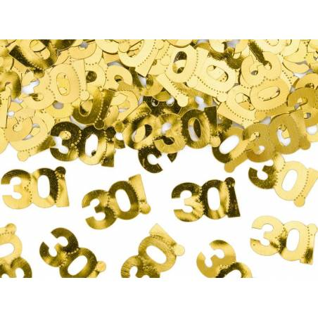 Confettis métalliques, numéro 30, 15g