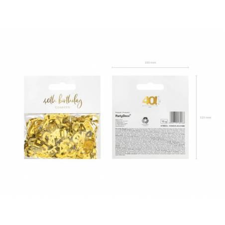 Confettis métalliques, numéro 40, 15g