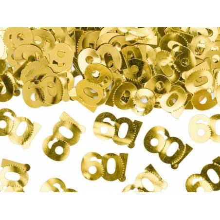 Confettis métalliques, numéro 60, 15g