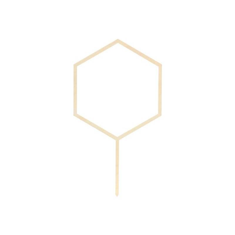 Hexagone surmatelas en bois, 24cm