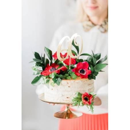 Cake topper 60, or, 20,5 cm