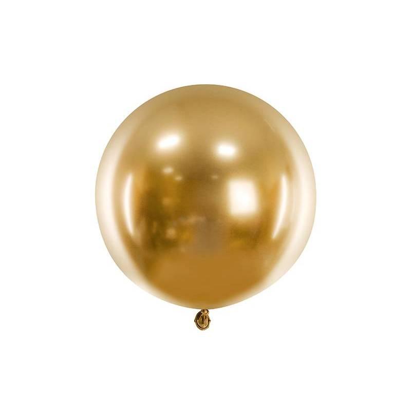 Ballon brillant rond 60cm, or