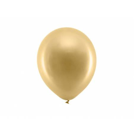 Ballons Rainbow 23cm or métallique