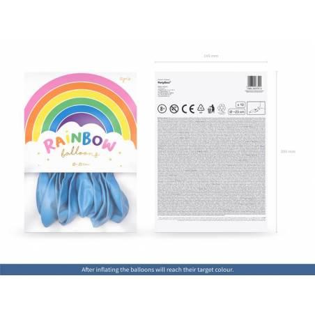 Ballons Rainbow 23cm bleu clair pastel
