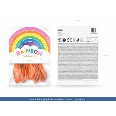 Ballons Rainbow 23cm orange pastel