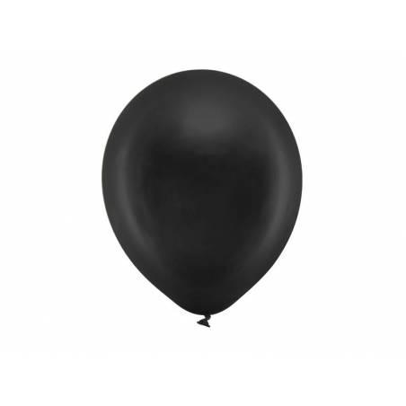 Ballons Rainbow 30cm noir métallique