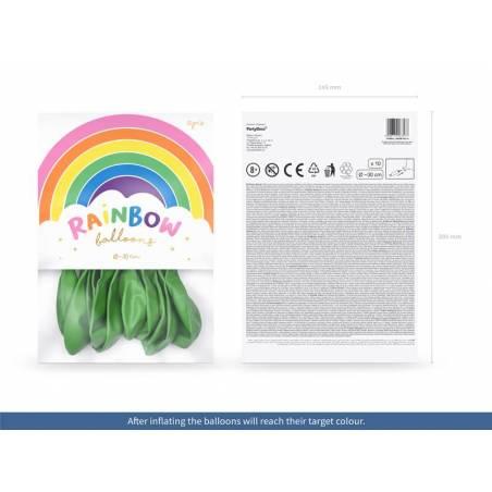 Ballons Rainbow 30cm vert clair métallique