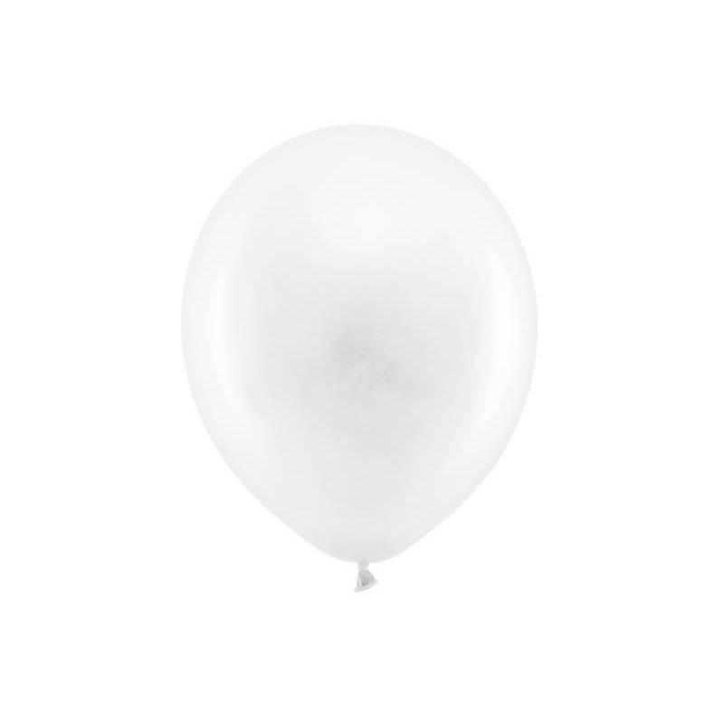 Ballons Rainbow 30cm blanc pastel