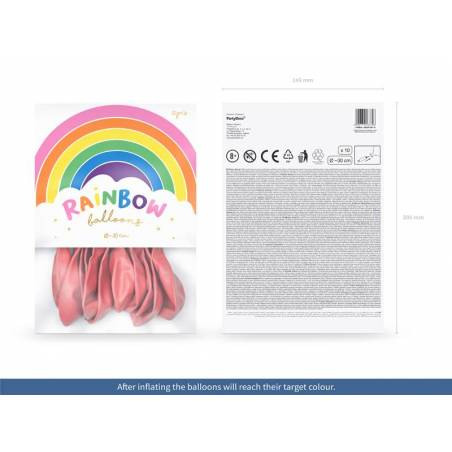 Ballons Rainbow 30cm rose pastel