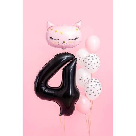 Ballon aluminium numéro 4, 86cm, noir