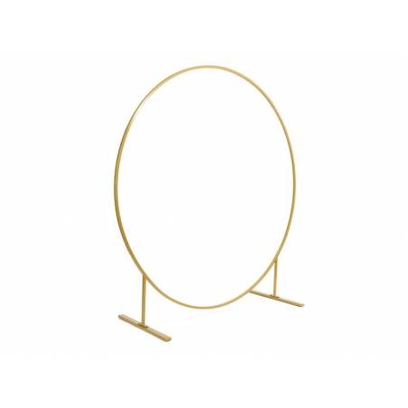 Support pour toile de fond Circle, or, 2m